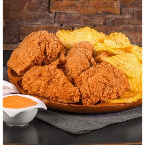 دجاج بروستد عدد 1 مع بطاطا ومايونيز